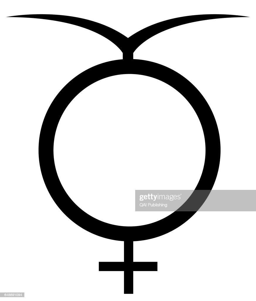 Mercurys symbol pictures getty images mercurys symbol this is the symbol for the planet mercury buycottarizona Choice Image