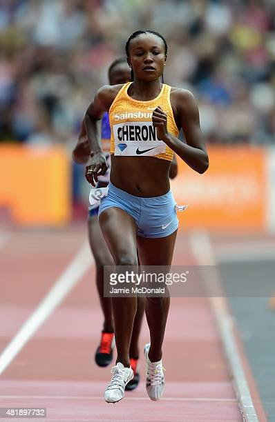 Mercy Cherono of Kenya competes in the Womens 5000m during day two of the Sainsbury's Anniversary Games at The Stadium Queen Elizabeth Olympic Park...