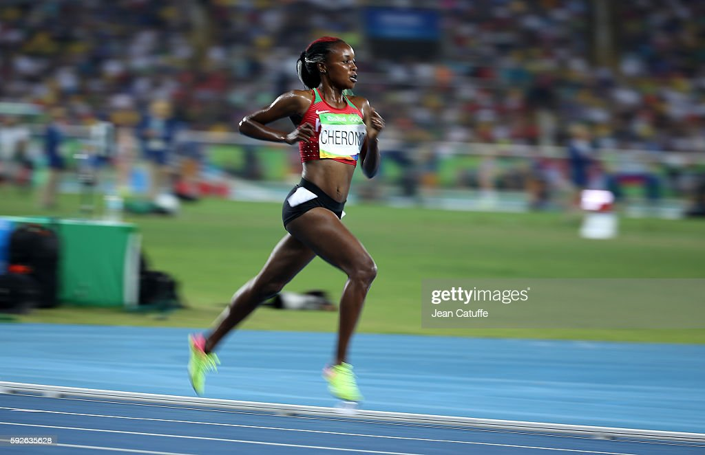 Mercy Cherono of Kenya competes in the Women's 5000m on day 14 of the Rio 2016 Olympic Games at Olympic Stadium on August 19, 2016 in Rio de Janeiro, Brazil.