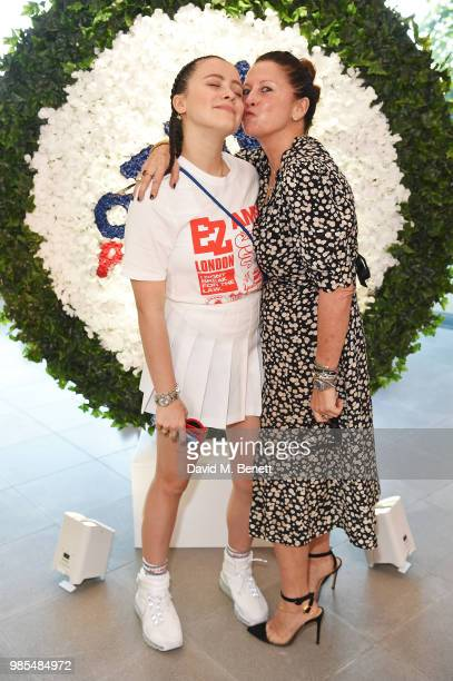 Mercy Cutler and Fran Cutler attend the launch of the Palace x Adidas Wimbledon kit on June 27 2018 in London England