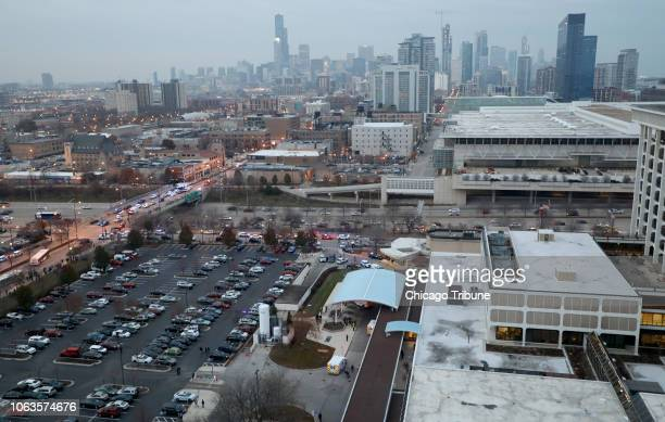 Mercy Hospital is shown Nov 19 2018 in Chicago Multiple people including a Chicago police officer were reported shot at the Near South Side hospital