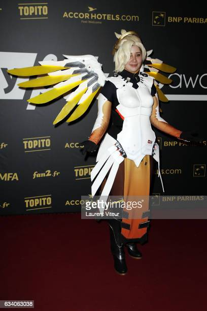 Mercy of Overwatch attends the '4th Melty Future Awards' at Le Grand Rex on February 6 2017 in Paris France