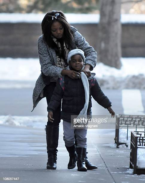 Mercy the adopted daughter of Madonna is sighted on January 14 2011 in New York City