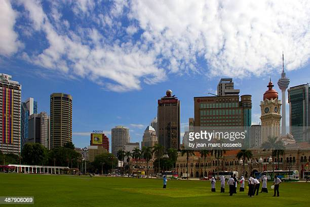 Merdeka square and skyscapers