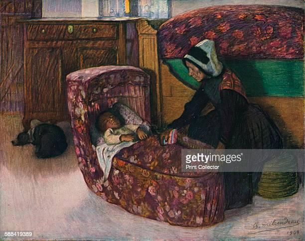 Mere Et Enfant Interieur Vendeen' 1900 From The Studio Volume 31 Artist Charles Milcendeau