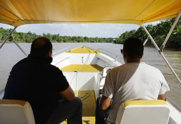 Mere River at Amazon Rainforest north of Brazil