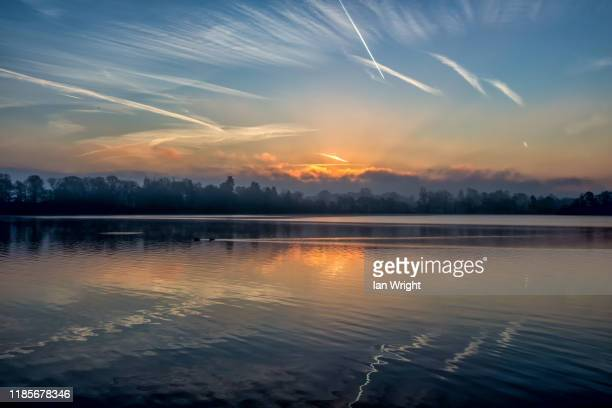 mere sunrise, ellesmere - 2017 stock pictures, royalty-free photos & images