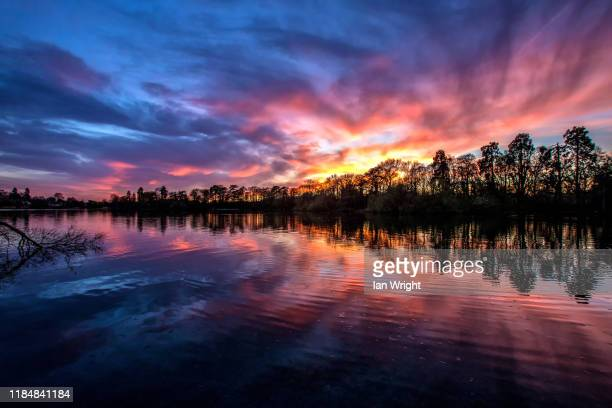 mere sunset, ellesmere #10 - 2017 stock pictures, royalty-free photos & images