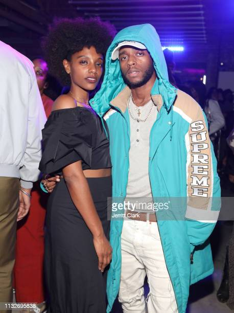 Mereba and 6lack attend Mereba's Album Listening Party And Performance Celebrating The Jungle Is The Only Way Out at Urban Outfitters Space 15 Twenty...