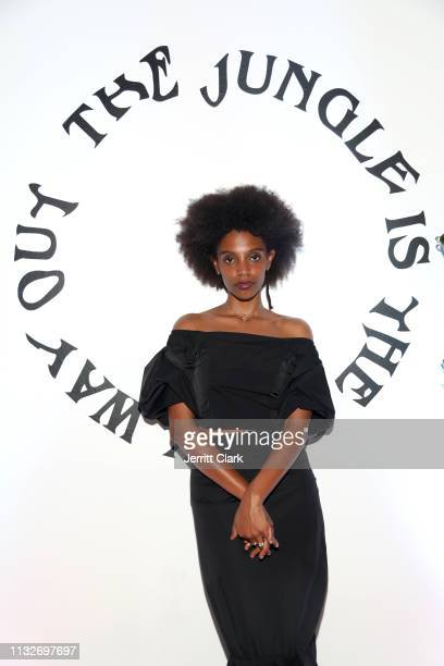 Mereba attends her Album Listening Party And Performance Celebrating The Jungle Is The Only Way Out at Urban Outfitters Space 15 Twenty on February...