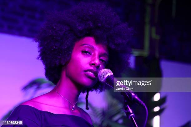 Mereba performs at her Album Listening Party And Performance Celebrating The Jungle Is The Only Way Out at Urban Outfitters Space 15 Twenty on...