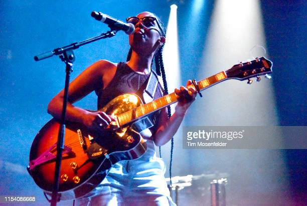 Mereba performs during the Catch Me If You Can Tour at The Regency Ballroom on June 05 2019 in San Francisco California