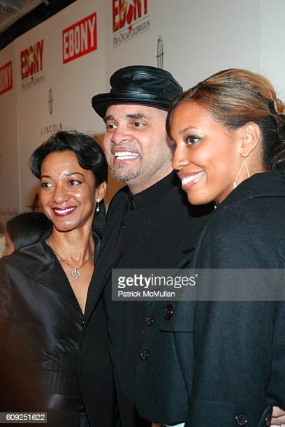 Meredith Adkins Sinbad and Paige Adkins attend Halle Berry Forest Whitaker Janet Jackson Herbie Hancock Honored at Ebony's PreOscar Celebration at...