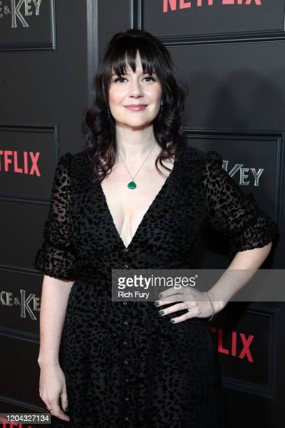 Meredith Averill attends Netflix's Locke Key series premiere photo call at the Egyptian Theatre on February 05 2020 in Hollywood California