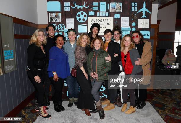 Meredith Bagby Ali Liebegott Kyra Sedgwick Travis Bacon Michelle Lawler Valerie Stadler and cast and crew attend a brunch celebrating Girls Weekend...