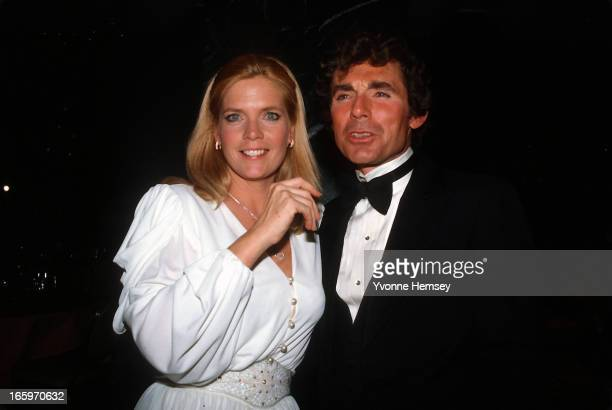 Meredith Baxter and her husband David Birney pose for a photograph at Night of 100 Stars event March 8 1982 in New York City