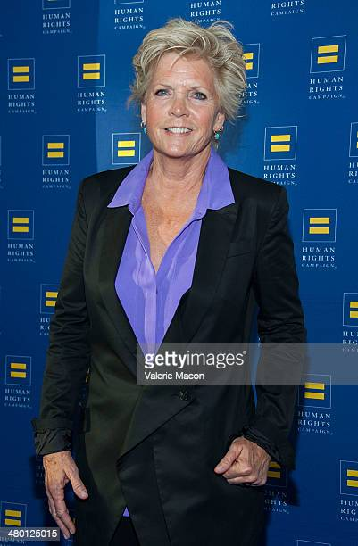 Meredith Baxter arrives at the Human Rights Campaign Los Angeles Gala Dinner at JW Marriott Los Angeles at LA LIVE on March 22 2014 in Los Angeles...