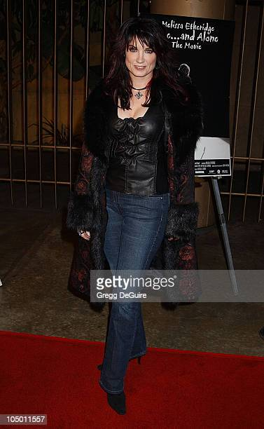 Meredith Brooks during Melissa Etheridge Liveand Alone The Movie Arrivals at Egyptian Theatre in Hollywood California United States