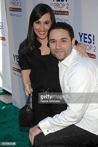 Meredith Eaton and Brian Gordon attend Ellen DeGeneres And Portia de Rossi Host Yes On Prop 2 Party on September 28 2008 in Los Angeles California