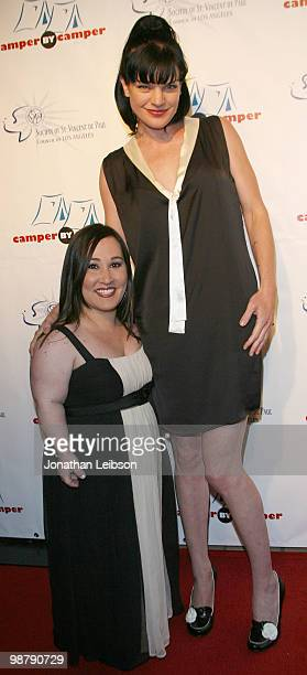 Meredith Eaton Pauley Perrette arrive at the Four Seasons Beverly Hills on May 1 2010 in Beverly Hills California