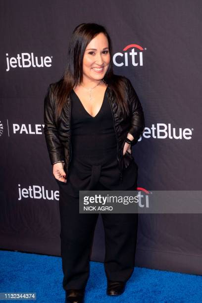 Meredith EatonGilden arrives for the Paley Center for Media's 2019 PaleyFest 'Hawaii Five0' 'MacGyver' and 'Magnum PI' on March 23 2019 at the Dolby...