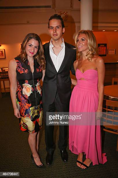 Meredith Fineman, Gustavo Sapoznik and Mary Anne Huntsman attend at Carnegie Hall on January 23, 2014 in New York City.