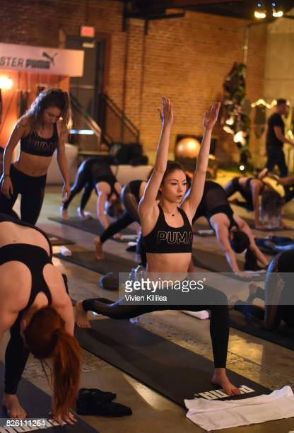 Meredith Foster attends PUMA Hosts CAMP PUMA To Launch Their Newest Women's Collection Velvet Rope at Goya Studios on August 3 2017 in Los Angeles...