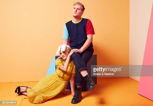 Meredith Hagner and John Early of Turner Networks 'TBS/Search Party' pose for a portrait during the 2017 Summer Television Critics Association Press...