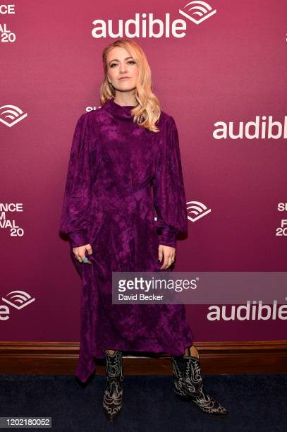 """Meredith Hagner attends the """"Palm Springs"""" premiere party at Audible Speakeasy during the 2020 Sundance Fiˆlm Festival on January 26, 2020 in Park..."""