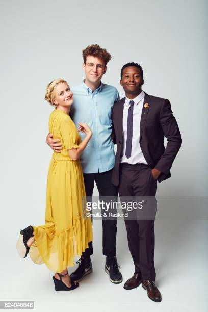 Meredith Hagner John Reynolds and Brandon Michael Hall of Turner Networks 'TBS/Search Party' pose for a portrait during the 2017 Summer Television...