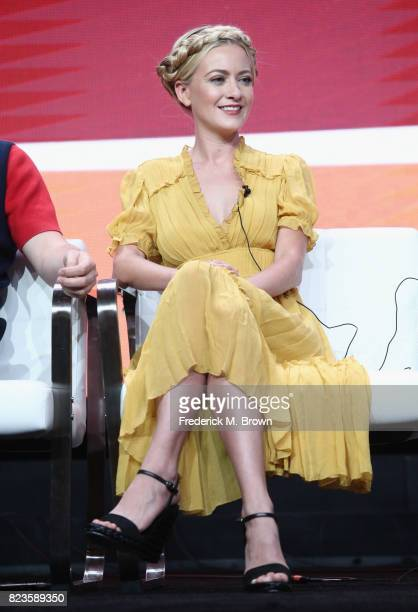 Meredith Hagner of 'TBS/Search Party' speaks onstage during the Turner Networks portion of the 2017 Summer Television Critics Association Press Tour...