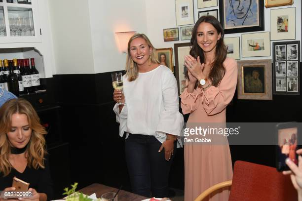 Meredith Hammer and Something Navy Blogger Arielle Charnas speak at the Fossil Firsts Dinner Hosted By Something Navy at 33 Greenwich on May 11 2017...