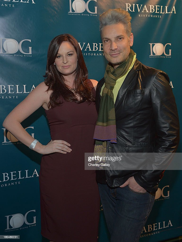Meredith Johnson (L) and Cameron Silver attend the Grand Opening of RivaBella Ristorante on January 31, 2013 in West Hollywood, California.