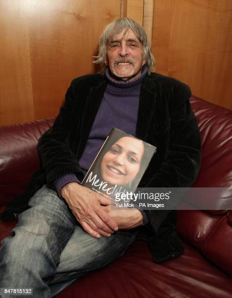 Meredith Kercher's father John Kercher from Croydon south London with his book Meredith Our Daughter's Murder and the Heartbreaking Quest for the...