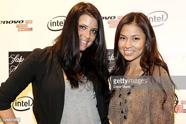Meredith Koko and Samantha Lim at Saks Fifth Avenue on September 8 2011 in New York City