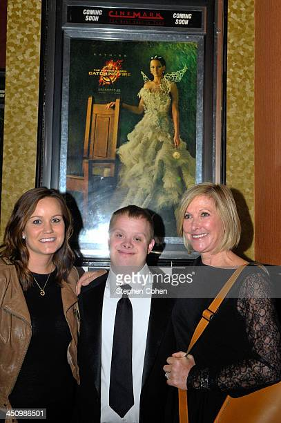 Meredith Lawrence Andy Strunk and Karen Lawrence attend the 'The Hunger Games Catching Fire' Louisville Screening at Cinemark Tinseltown USA on...