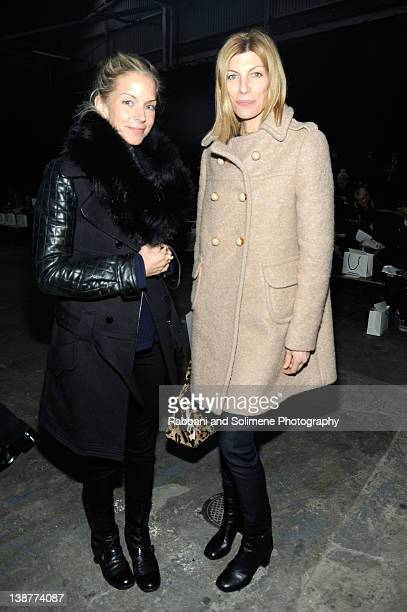 Meredith Melling Burke and Virginia Smith attend the Alexander Wang Fall 2012 fashion show during MercedesBenz Fashion Week at Pier 94 on February 11...