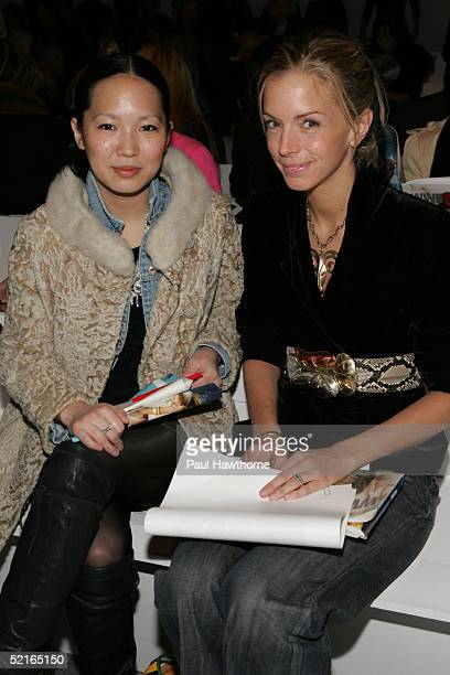Meredith Melling Burke editor at Vogue Magazine attends the Lela Rose Fall 2005 show during Olympus Fashion Week February 9 2005 in New York City