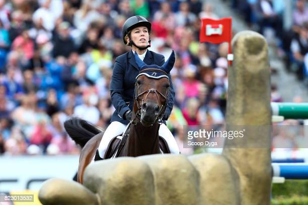 Meredith MICHAELSBEERBAUM riding DAISY during the Rolex Grand Prix part of the Rolex Grand Slam of Show Jumping of the World Equestrian Festival on...