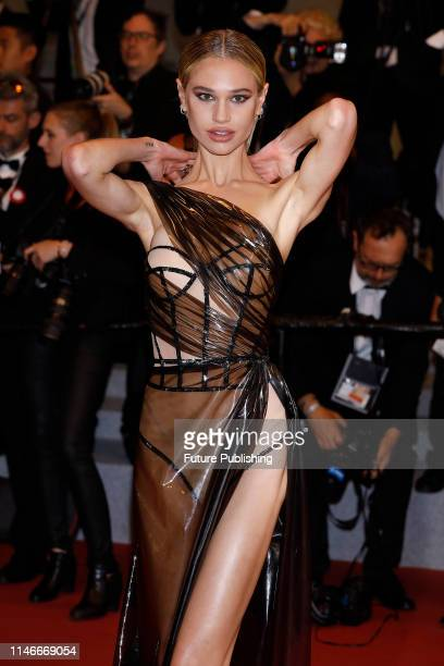 Meredith Mickelson at the premier red carpet for Rambo First Blood during the 72nd Cannes Film Festival at the Palais des Festivals on May 24 2019 in...