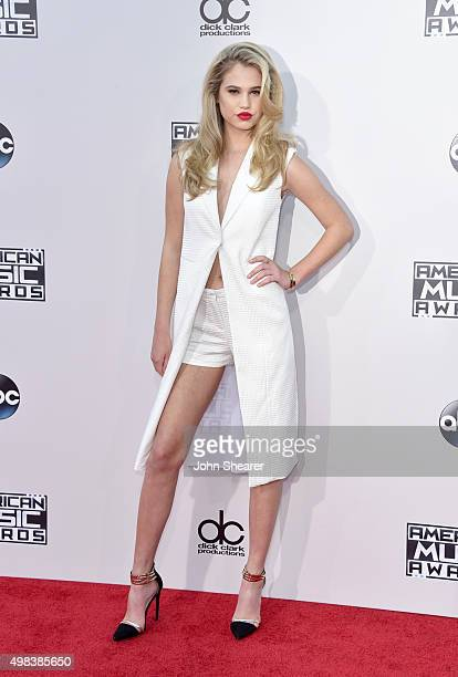 Meredith Mickelson attends the 2015 American Music Awards at Microsoft Theater on November 22 2015 in Los Angeles California