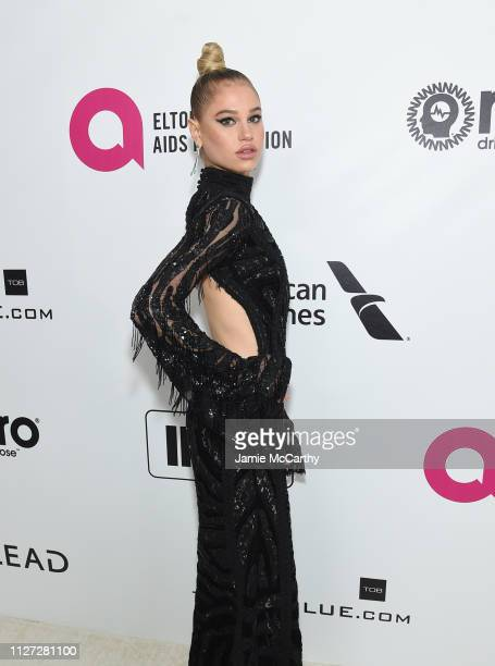 Meredith Mickelson attends the 27th annual Elton John AIDS Foundation Academy Awards Viewing Party sponsored by IMDb and Neuro Drinks celebrating...