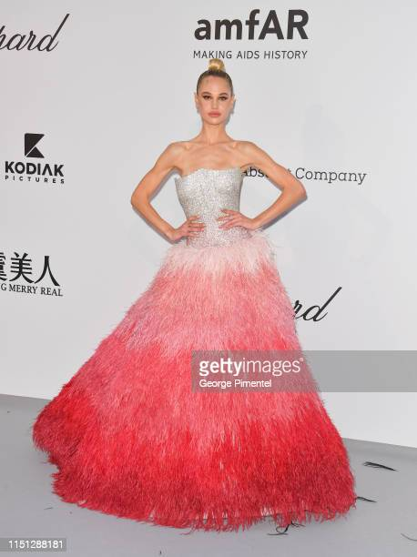 Meredith Mickelson attends the amfAR Cannes Gala 2019 at Hotel du CapEdenRoc on May 23 2019 in Cap d'Antibes France