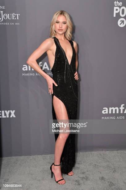 Meredith Mickelson attends the amfAR New York Gala 2019 at Cipriani Wall Street on February 6 2019 in New York City