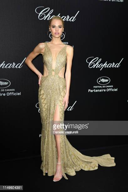 Meredith Mickelson attends the Chopard Love Night photocall on May 17 2019 in Cannes France