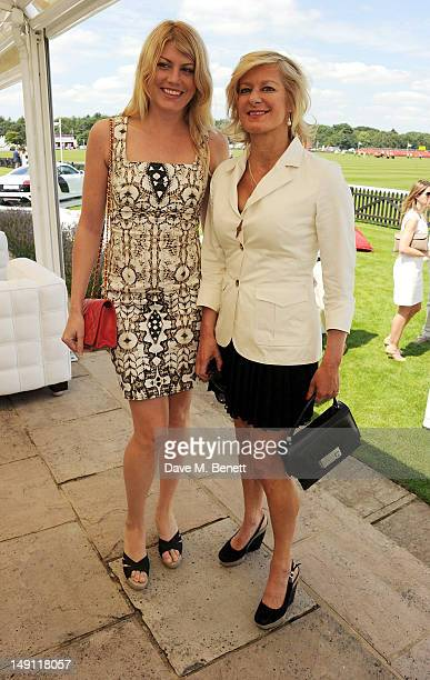 Meredith Ostrom and Alison Jackson attend the Audi International Guards Polo at Guards Polo Club on July 22 2012 in Egham United Kingdom