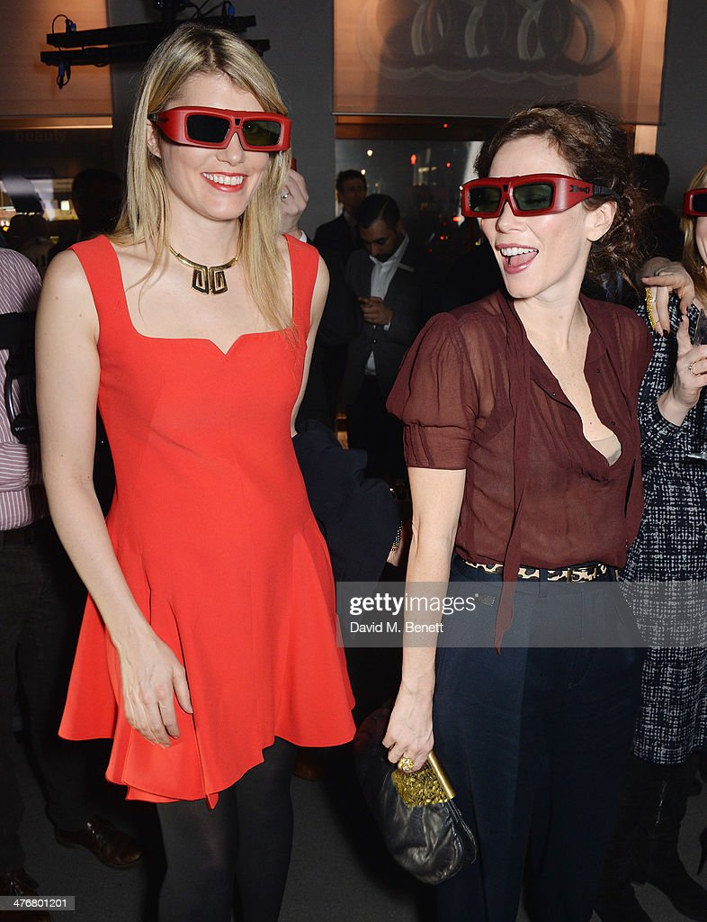 Meredith Ostrom and Anna Friel attend the exclusive UK debut unveiling of the all new Audi TT at Audi City on March 5, 2014 in London, England.