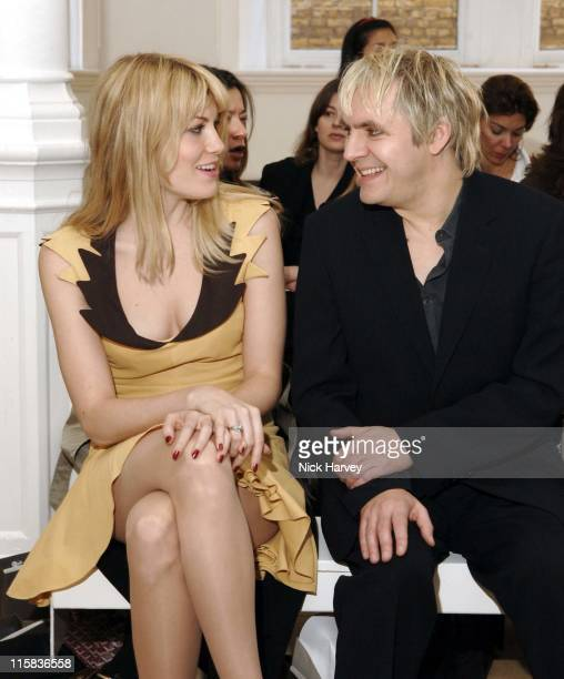 Meredith Ostrom and Nick Rhodes during London Fashion Week Autumn/Winter 2006 Allegra Hicks Runway at Royal Academy of Arts in London Great Britain