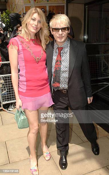 Meredith Ostrom and Nick Rhodes during The 50th Ivor Novello Awards Arrivals at Grosvenor House Hotel in London Great Britain