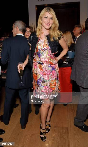 Meredith Ostrom attend reception hosted by Graff held in aid of FACET at Christie's King Street on October 12 2009 in London England